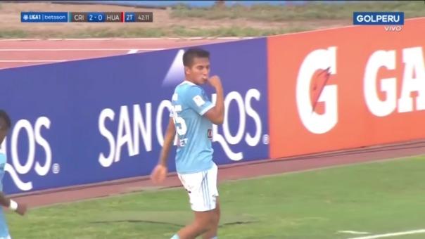 Gerald Távara marcó el segundo gol en el Sporting Cristal vs Sport Huancayo