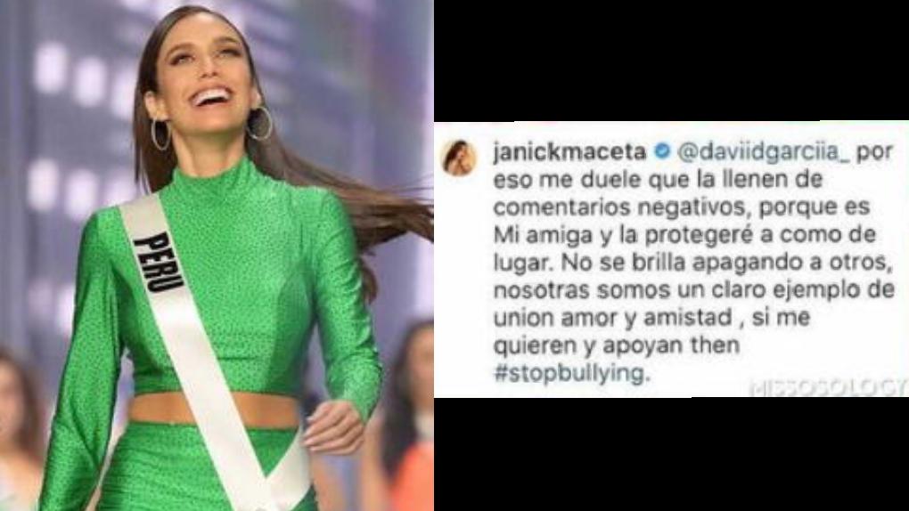 Janick Maceta defiende a Andrea Meza, Miss Universo 2021, de los ataques que recibe en las redes sociales.