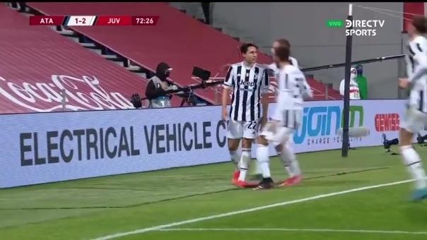 Federico Chiesa anotó el 2-1 de Juventus ante Atalanta