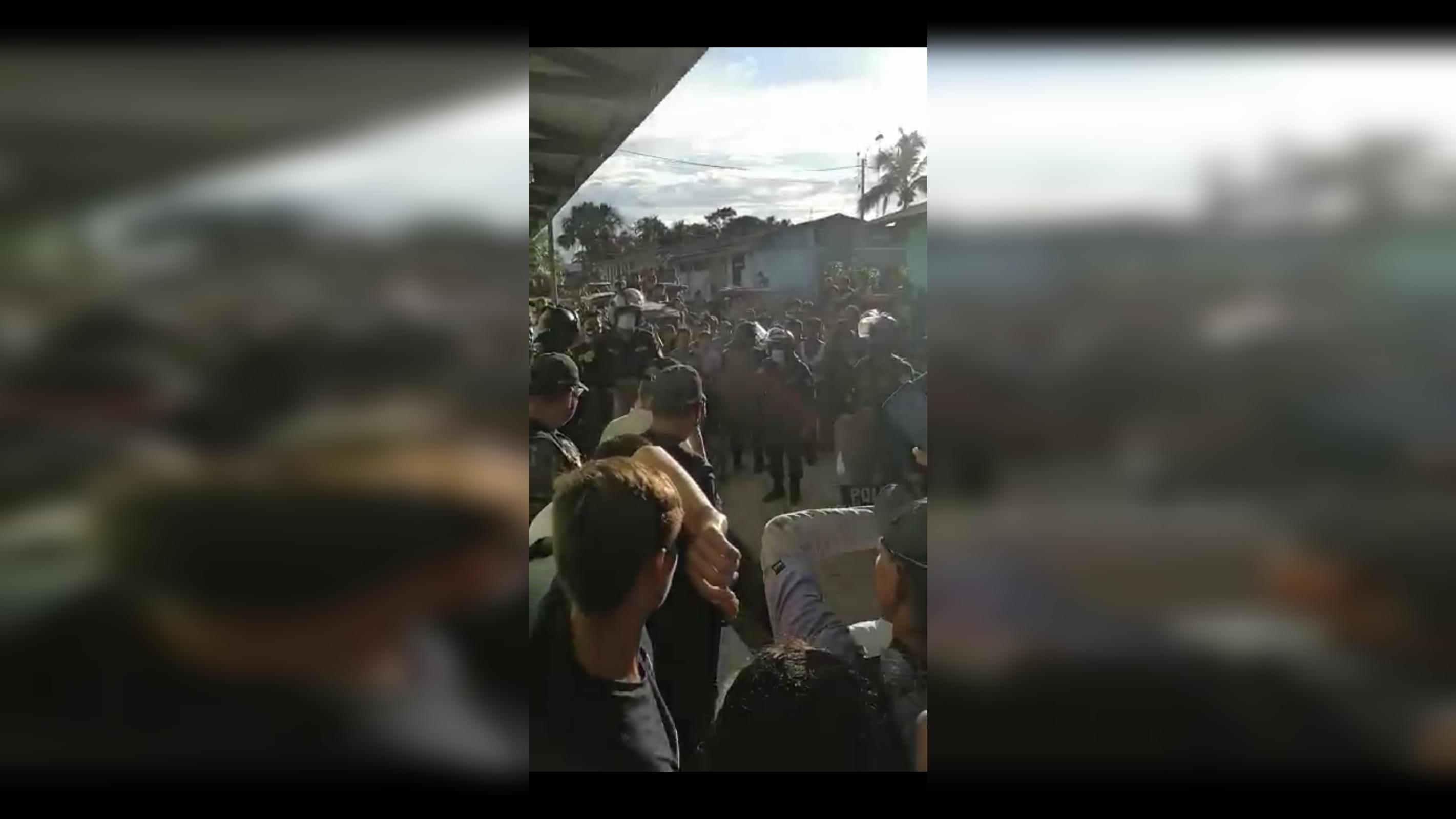 El incidente ocurrido está siendo investigado por el Comando de la Policía Nacional.