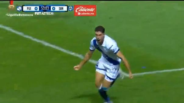 Así fue el gol de Santiago Ormeño en el Puebla vs Santos