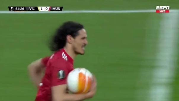 Villarreal 1-1 Manchester United: así fue el gol de Edinson Cavani