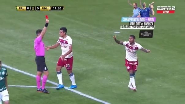 Alberto Quintero fue expulsado por supuesta falta contra Weverton en partido ante Palmeiras