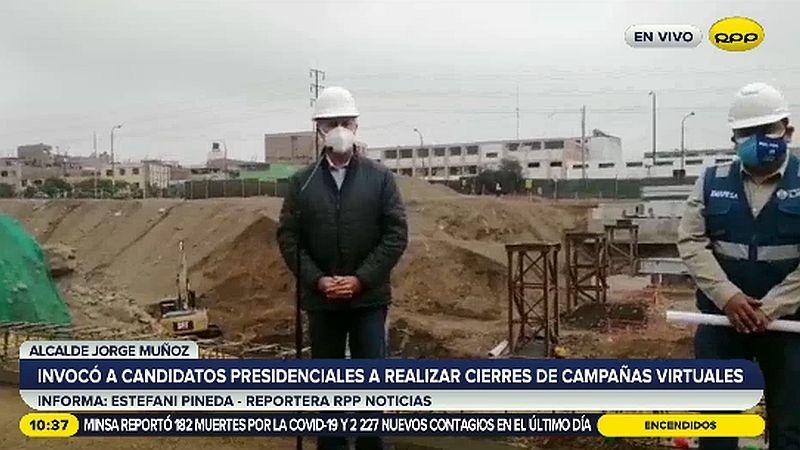 El alcalde de Lima supervisó las obras del futuro Puente Morales Duárez.