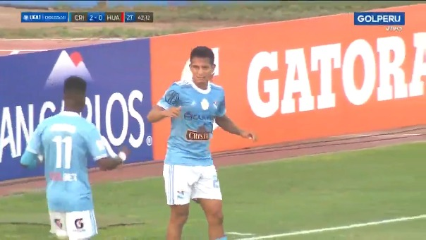 Gol de Martín Távara en la victoria de Sporting Cristal ante Sport Huancayo