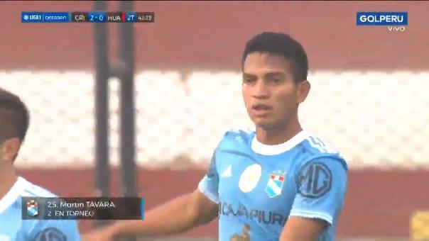 Martín Távara marcó en la victoria de Sporting Cristal ante Sport Huancayo