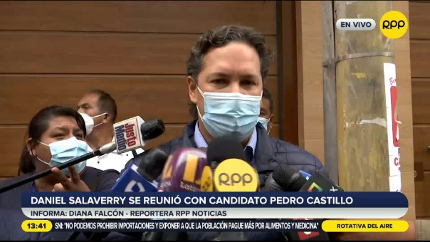 Daniel Salaverry se reunió con candidato Pedro Castillo.