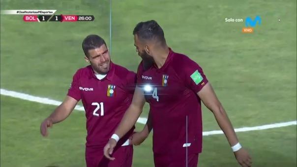 Bolivia 1-1 Venezuela: así fue el gol de Chancellor