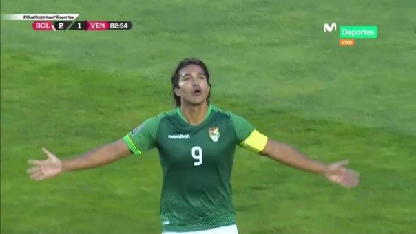 Bolivia 3-1 Venezuela: así fue el gol de Marcelo Martins
