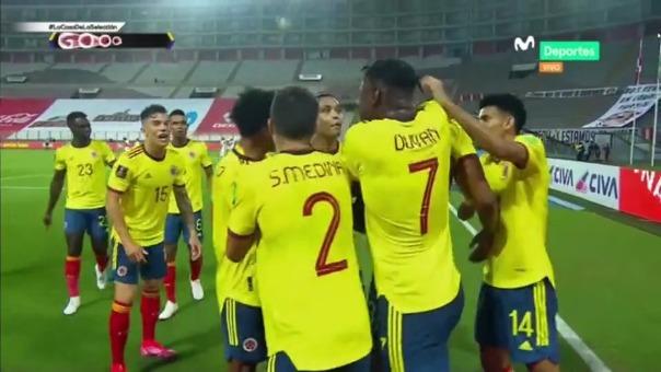 Perú vs Colombia: así fue el gol de Yerry Mina