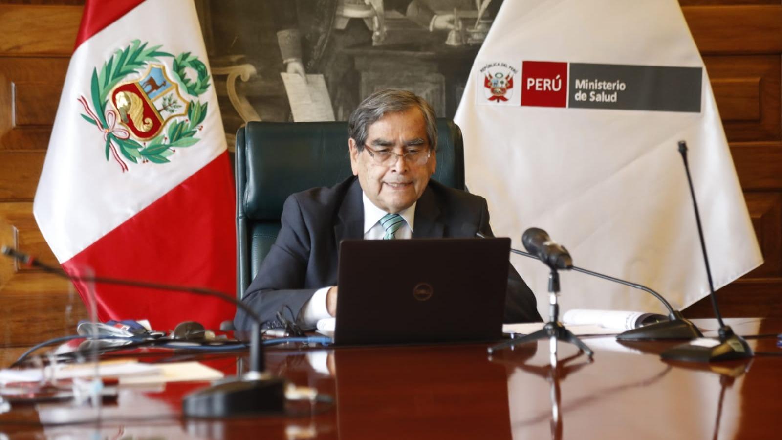 Óscar Ugarte, ministro de Salud, se refirió a la situación de la COVID-19 en el país.