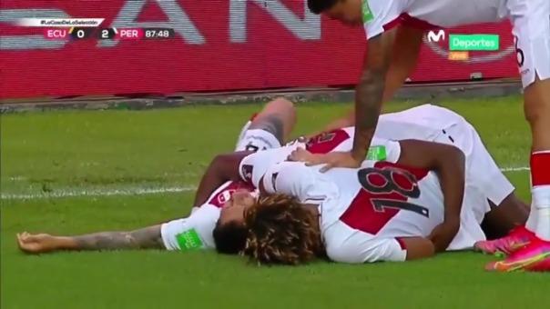 Luis Advíncula anotó 2-0 de Perú ante Ecuador tras asistencia de Lapadula