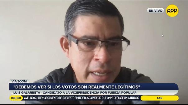 Luis Galarreta, candidato a la primera vicepresidencia de Fuerza Popular.