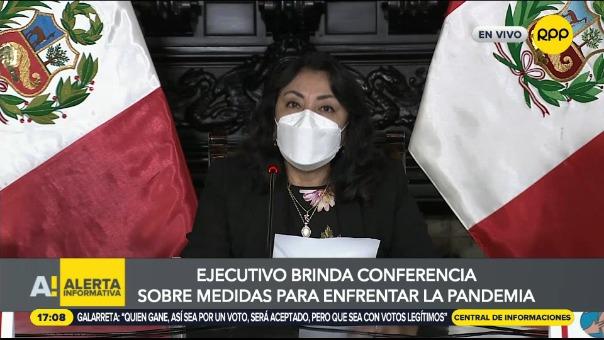 Consejo de Ministros ofreció conferencia de prensa.