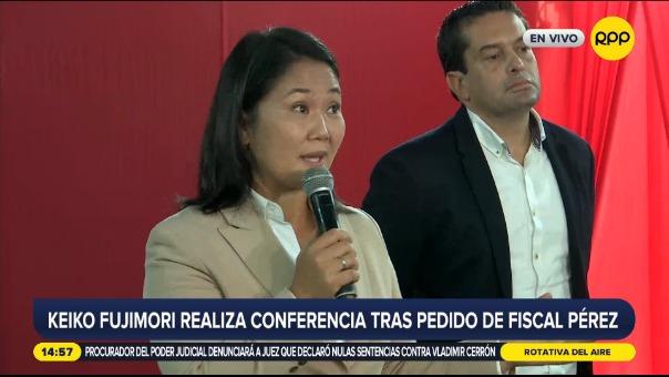 Keiko Fujimori realizó conferencia de prensa.