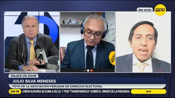Julio Silva Meneses, presidente de la Asociación Peruana de Derecho Electoral.