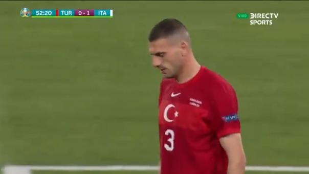 Merih Demiral en contra le dio el 1-0 a Italia ante Turquía