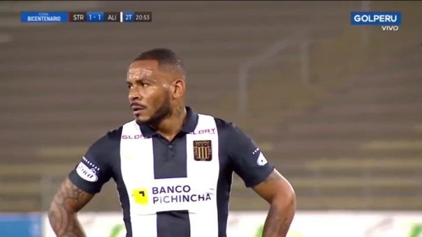 Wilmer Aguirre anotó el 2-1 de Alianza Lima sobre Santa Rosa