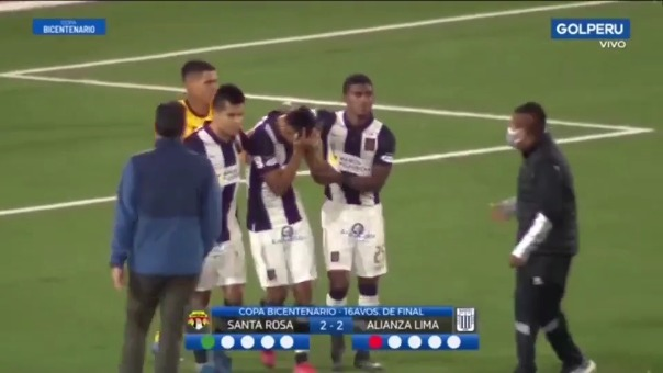 Fabio Rojas falló el penal decisivo de Alianza Lima ante Santa Rosa