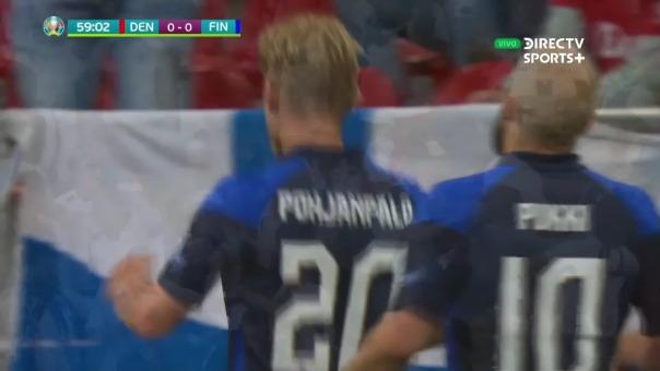 Dinamarca vs Finlandia: así fue el gol de Joel Pohjanpalo