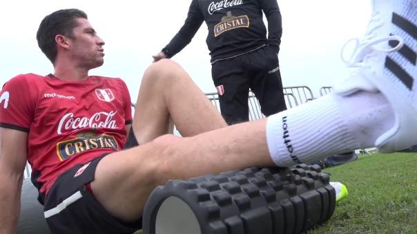Santiago Ormeño realizó esta mañana su primer entrenamiento con la Selección Peruana