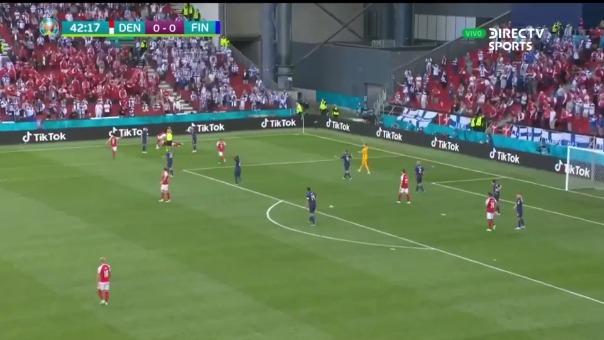 Christian Eriksen se desmayó durante el Dinamarca vs. Finlandia por Eurocopa 2021