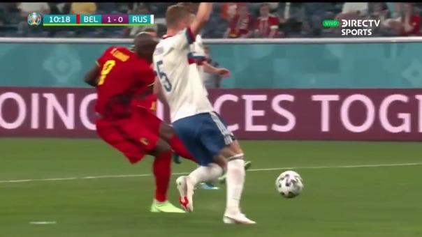Gol de Romelu Lukaku para el 1-0 de Bélgica ante Rusia
