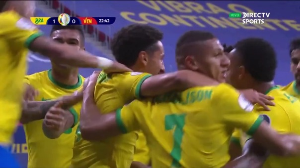 Brasil 1-0 Venezuela: así fue el gol de Marquinhos