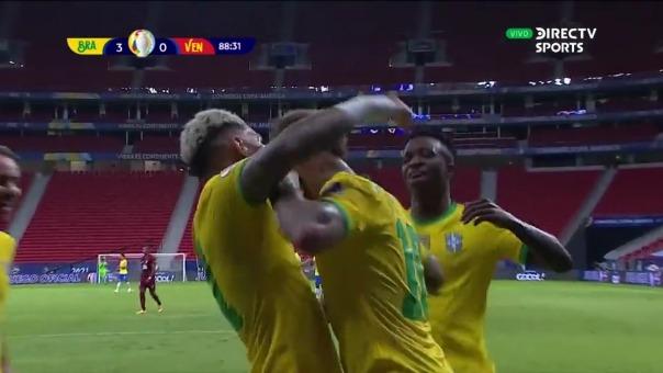 Brasil 3-0 Venezuela: así fue el gol de Gabigol