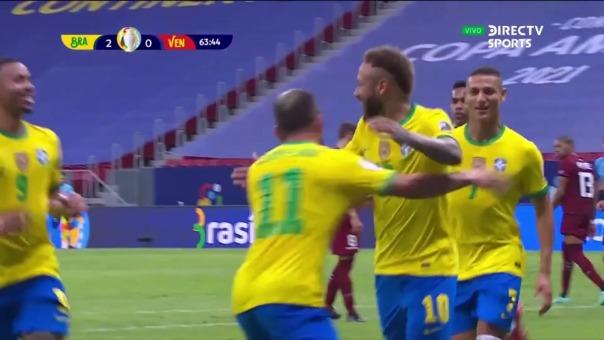 Brasil 2-0 Venezuela: así fue el gol de Neymar