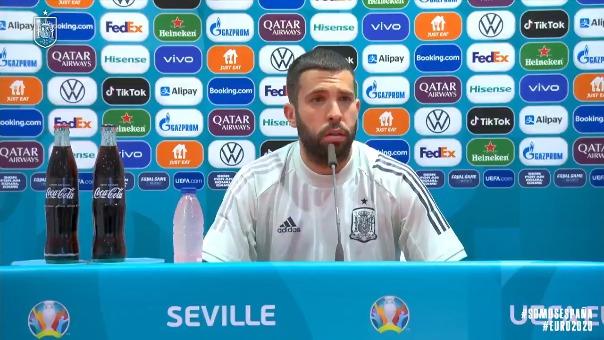 Jordi Alba conversó con la prensa previo al España vs Suecia