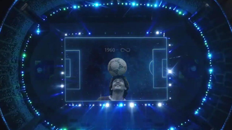 Homenaje a Diego Maradona.