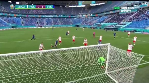 Polonia 0-1 Eslovaquia: así fue el gol de los eslovacos