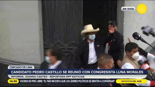 Pedro Castillo se reunió con José Luna Morales, congresista de Podemos Perú.