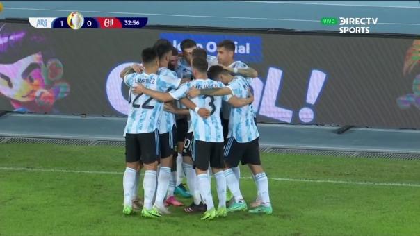 Argentina vs Chile: así fue el gol de Messi