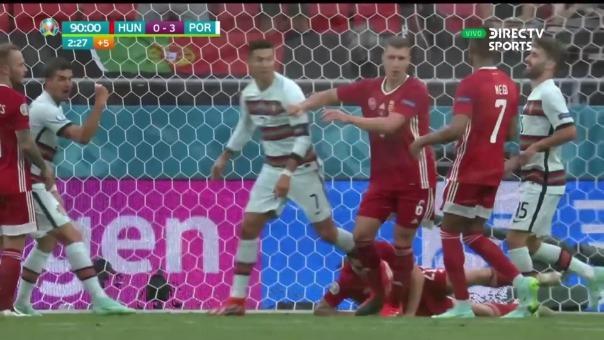 Así fue el segundo gol de Cristiano Ronaldo en Portugal vs Hungría
