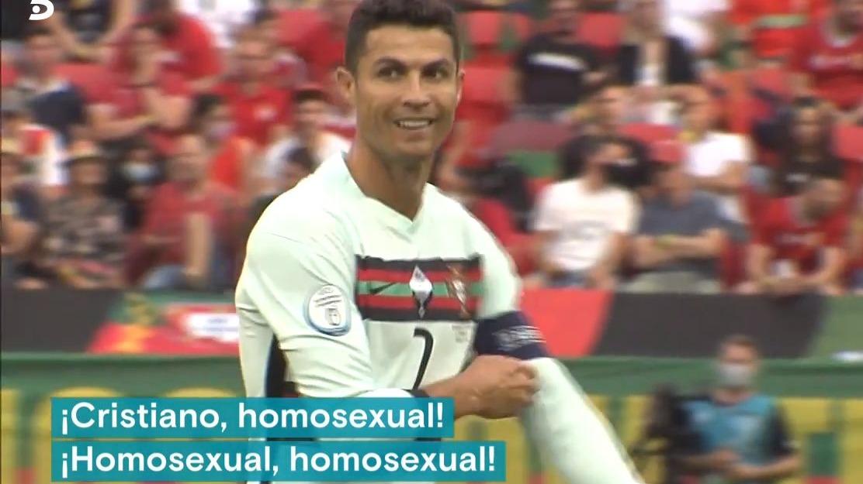 Así fueron los gritos homofóbicos que recibió Cristiano ante Hungría.