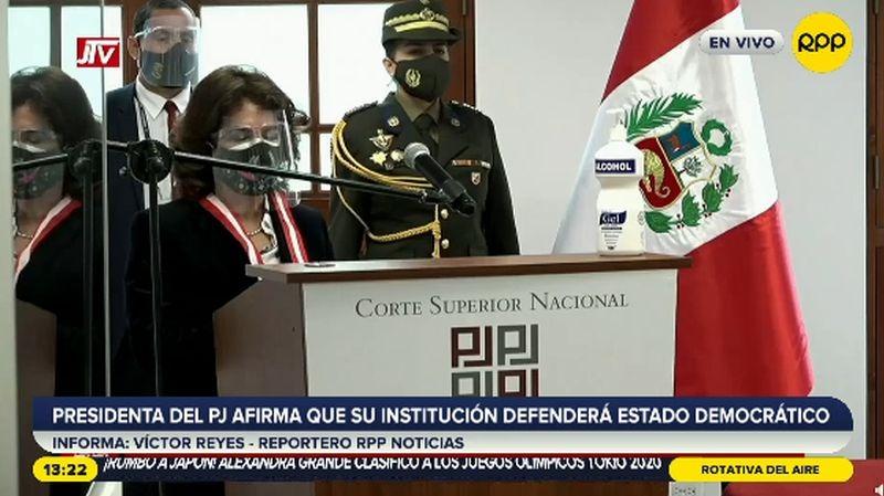 Elvia Barrios dio un discurso por la implementación del nuevo Código Procesal Penal.