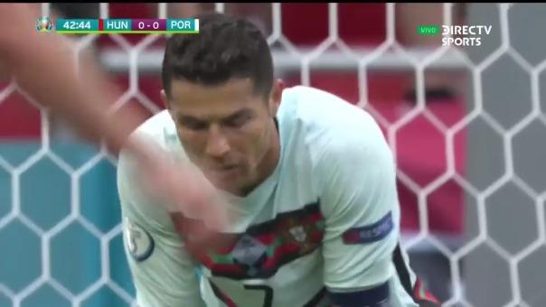 Cristiano Ronaldo perdió increíble ocasión ante Hungría
