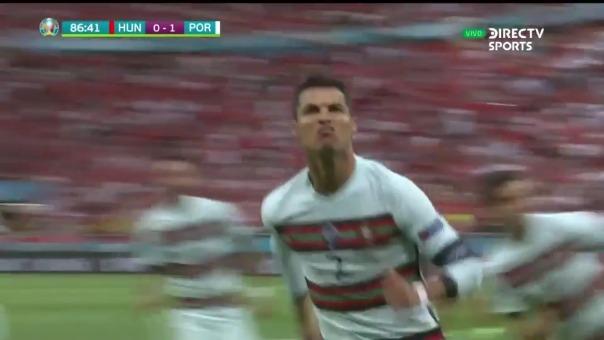 Cristiano Ronaldo anotó el 2-0 de Portugal ante Hungría en la Eurocopa