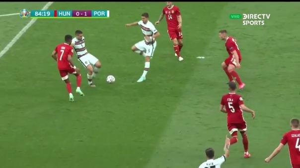 Raphael Guerreiro anotó el 1-0 de Portugal sobre Hungría