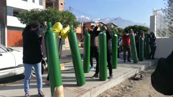 Demanda de oxígeno se triplicó en la región Arequipa, tras repunte de casos del nuevo coronavirus.