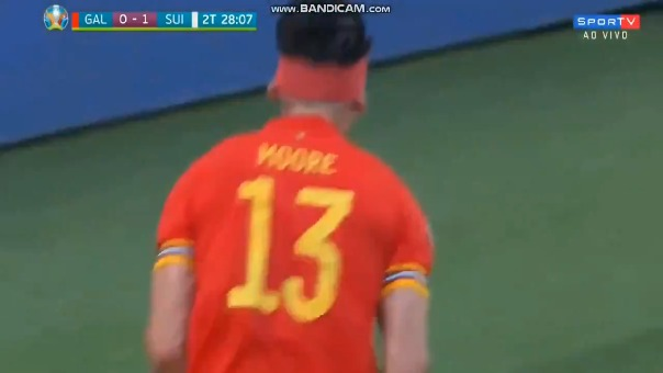 Kieffer Moore anotó en el empate de Gales con Suiza por la Eurocopa