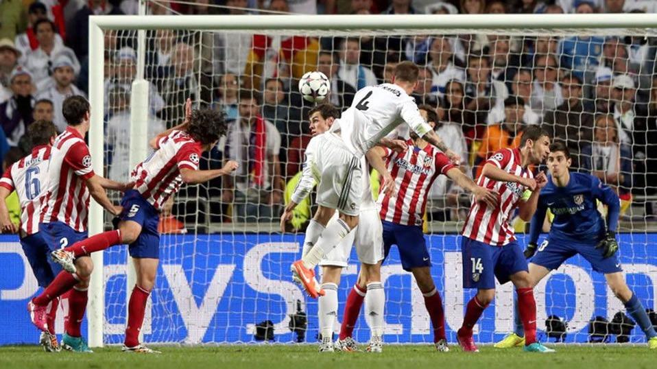 El golazo de Sergio Ramos en la final de Champions League 2014 en Portugal.