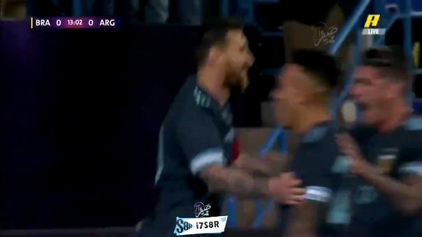 Brasil cayó ante Argentina en amistoso con gol de Messi