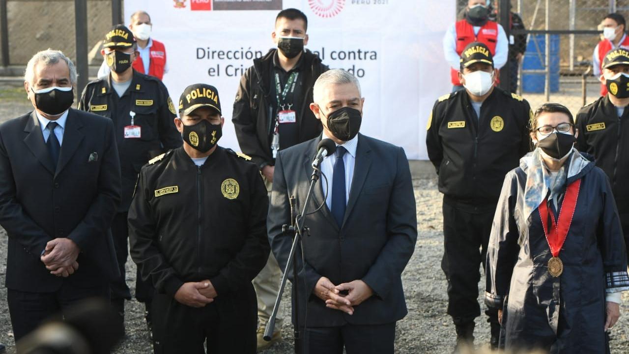 El acto de incineración se realizó en la sede de la Dirección de Operaciones Especiales (Diroes) de la PNP, en Ate.