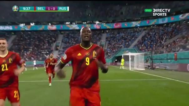 Romelu Lukaku anotó un doblete en el triunfo de Bélgica ante Rusia