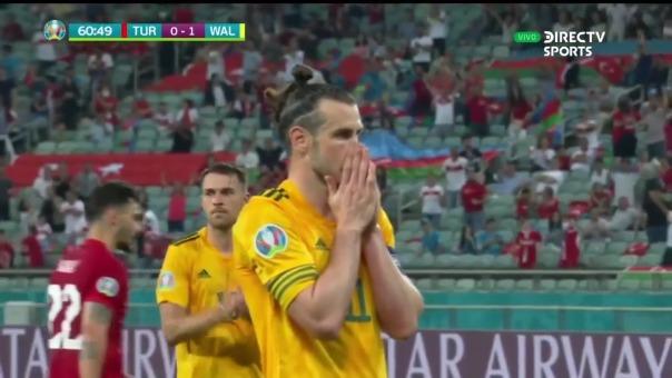 Gareth Bale desperdició un penal ante Turquía en la Eurocopa