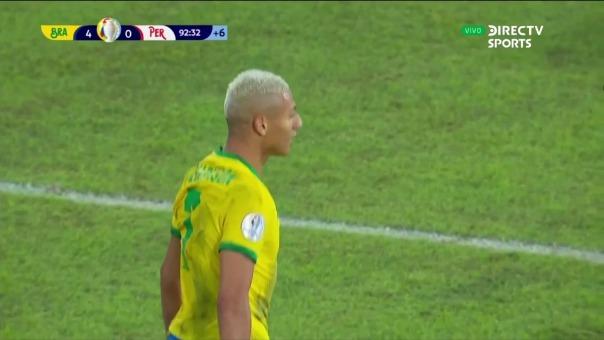 Brasil 4-0 Perú: así fue el gol de Richarlison