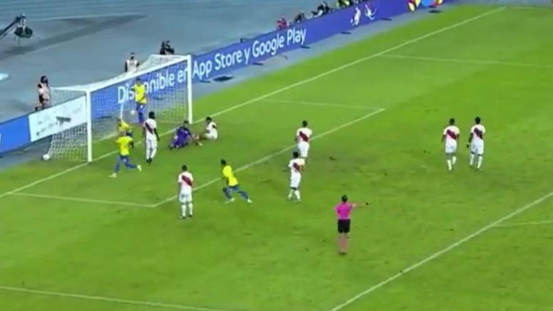 Gallese sufrió un gol de Éverton Ribeiro por la Copa América 2021.